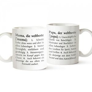 Tasse Definition Mama und Papa