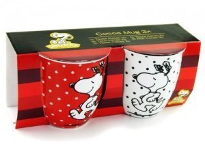 SNOOPY The Peanuts Comic Tasse Rot Weiß