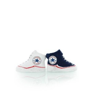 converse BABY Knit Booties navy