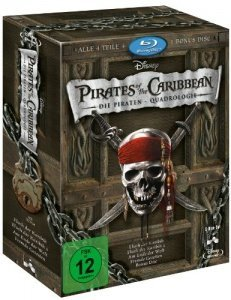 Pirates of the Caribbean - Die Piraten-Quadrologie  (5 Blu-Rays)