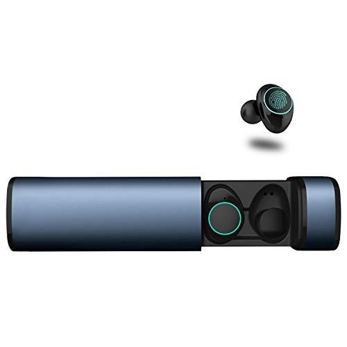 Arbily Mini Bluetooth Kopfhörer Kabellos In Ear True Wireless Earbuds mit Portable Mini Ladebox,Blu