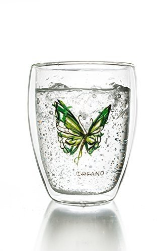 Creano Thermo-Glas Colourfly, doppelwandiges Tee-Glas, Latte Macchiato, Thermobecher Colourfly | 250