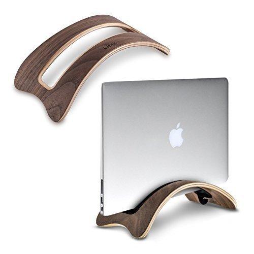 kalibri eleganter laptop tablet st nder in dunkelbraun aus holz. Black Bedroom Furniture Sets. Home Design Ideas