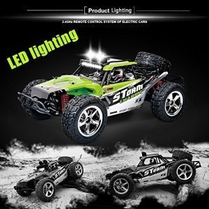 Vatos RC Ferngesteuertes Auto Monster Off Road RC Buggy 4WD 40km/h Im Maßstab 1:12 Fernbedienung 50