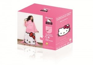 HELLO KITTY © Special Edition Fleece Decke mit Brusttasche und Ärmeln