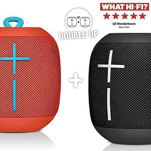 Ultimate Ears WonderBoom Bluetooth Lautsprecher (Wasserdicht mit doppeltem Anschluss) Phantom Black